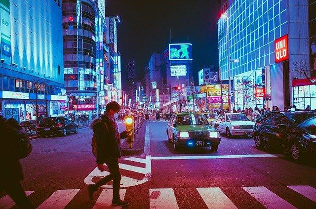 japonsko ósaka noc
