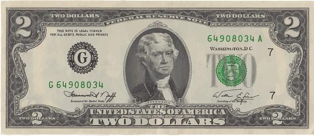 dvoudolarová bankovka