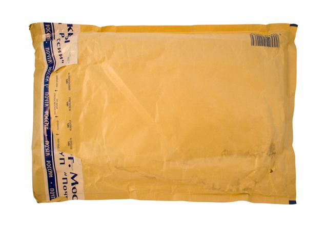 obálky opatřené folií a papírem