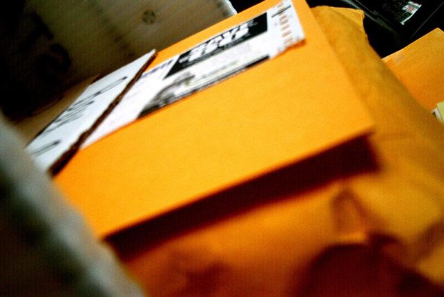oranžové obálky
