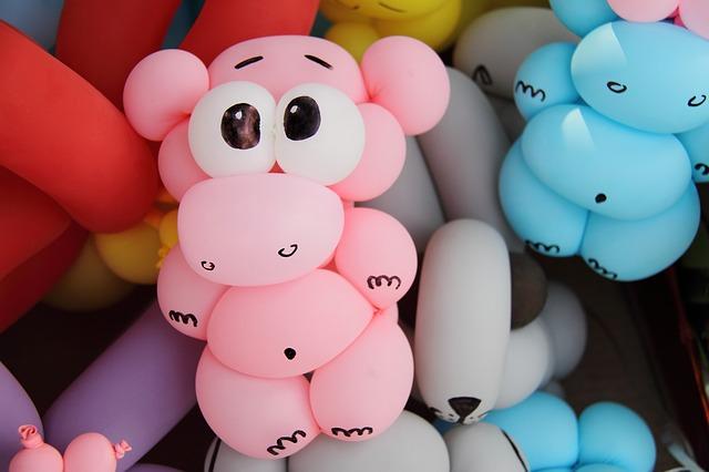 zvířátka z balónků
