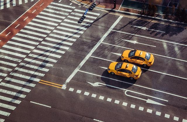 taxi na ulici